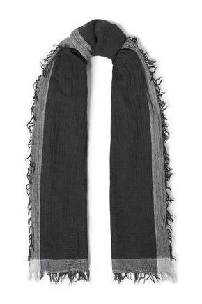 RAG & BONE Frayed wool and cotton-blend gauze scarf