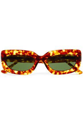 GEORGE KEBURIA نظارات شمسية بإطار مربع الشكل من الأسيتات بنقوش السلحفاة