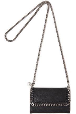 STELLA McCARTNEY Chain-trimmed faux brushed-leather shoulder bag