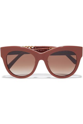 STELLA McCARTNEY D-frame chain-trimmed acetate sunglasses