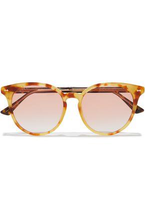 GUCCI نظارات شمسية بإطار دائري من الأسيتات بنقوش السلحفاة