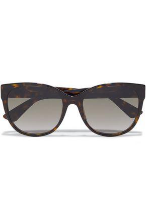 GUCCI نظارات شمسية بإطار على شكل D من الأسيتات بنقوش السلحفاة