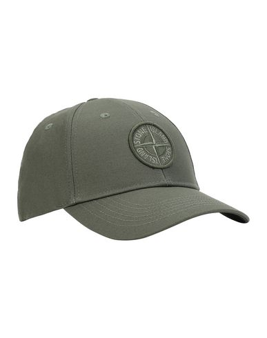 STONE ISLAND 99168 Cap Man Olive Green EUR 115