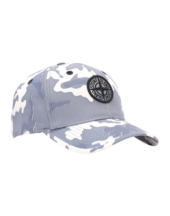 STONE ISLAND JUNIOR 90667 CAMOUFLAGE Cap Man Blue