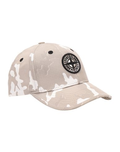 STONE ISLAND BABY 90667 CAMOUFLAGE Chapeau Homme Beige EUR 70