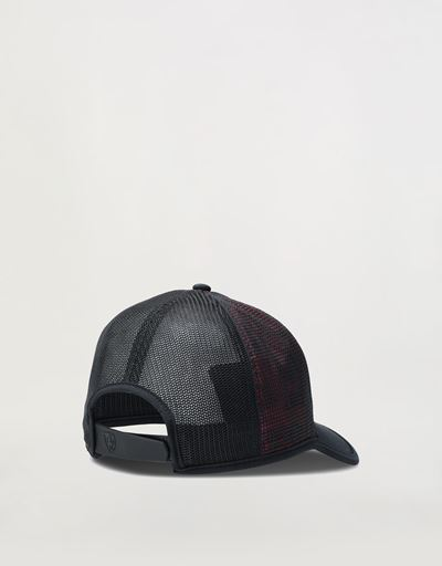 Red shaded effect cap