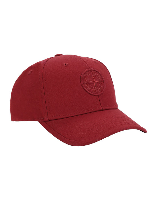 STONE ISLAND JUNIOR 91265 Cap Man Brick red