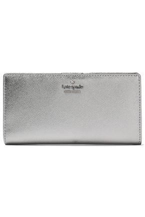 KATE SPADE New York Cameron Street Stacy metallic textured-leather wallet