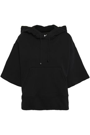 KORAL Cotton-blend fleece hoodie