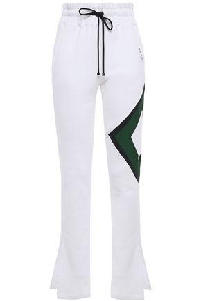 KORAL Cotton-blend fleece track pants