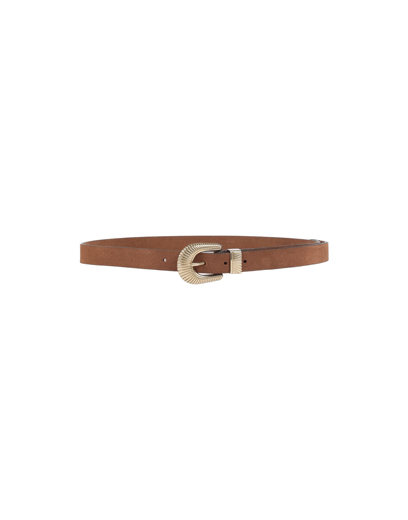 ELEVENTY Belts. suede effect, no appliqués, solid color, buckle fastening, standard, contains non-textile parts of animal origin. Soft Leather