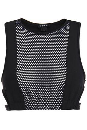 KORAL Dayside mesh-paneled stretch sports bra
