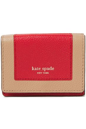 KATE SPADE New York Margaux two-tone pebbled-leather wallet