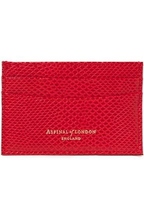 ASPINAL OF LONDON Lizard-effect leather cardholder