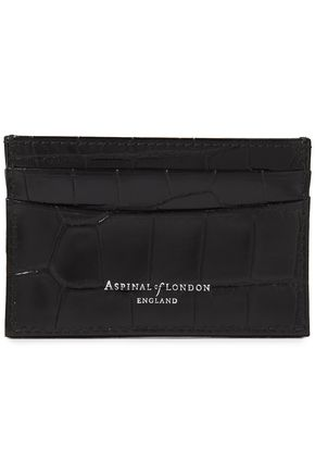 ASPINAL OF LONDON Croc-effect leather cardholder
