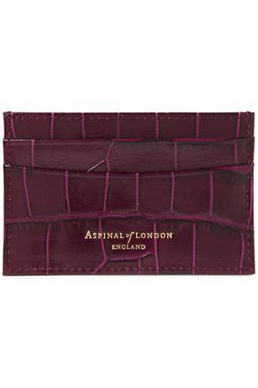 ASPINAL OF LONDON Croc-effect leather cardholder