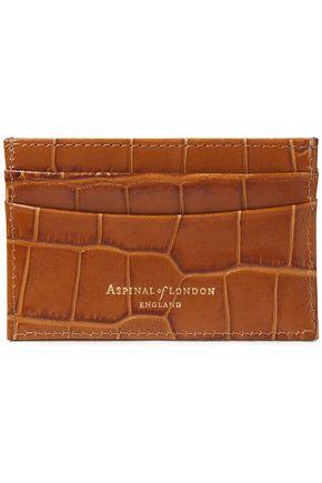 ASPINAL OF LONDON محفظة لحمل البطاقات من الجلد بنمط التمساح
