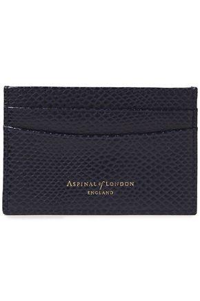 ASPINAL OF LONDON محفظة لحمل البطاقات من الجلد بنمط السحلية