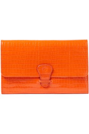 ASPINAL OF LONDON Classic Travel croc-effect leather wallet