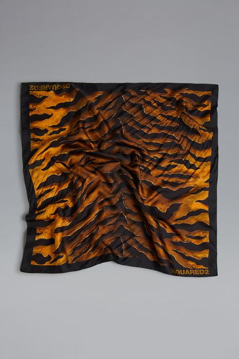 DSQUARED2 Unisex Foulard Noir Taille OneSize 100% Soie