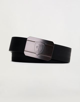 Scuderia Ferrari Online Store - Men's reversible belt with metal buckle - Reversible Belts