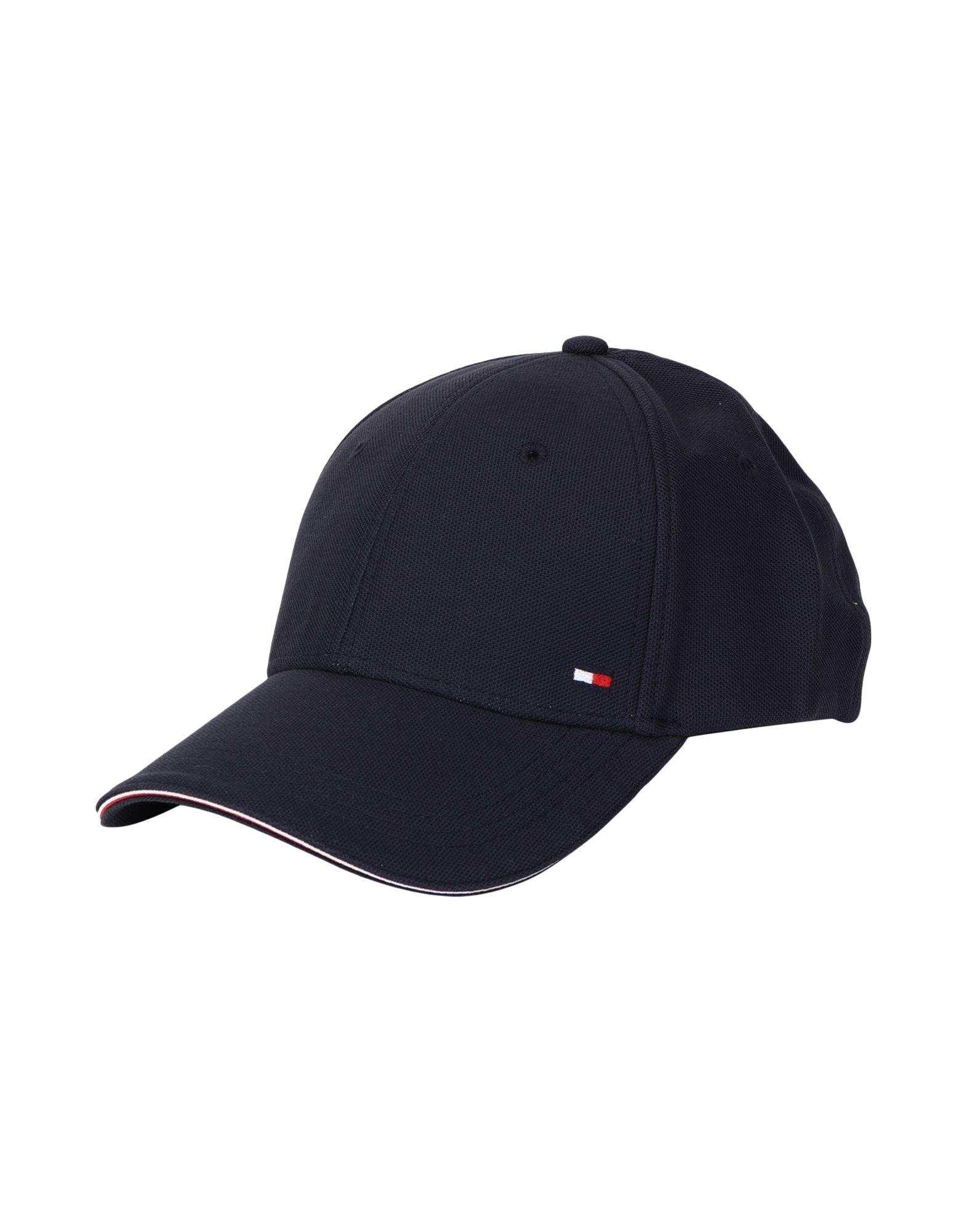 《セール開催中》TOMMY HILFIGER メンズ 帽子 ダークブルー one size コットン 100% ELEVATED CORPORATE CAP