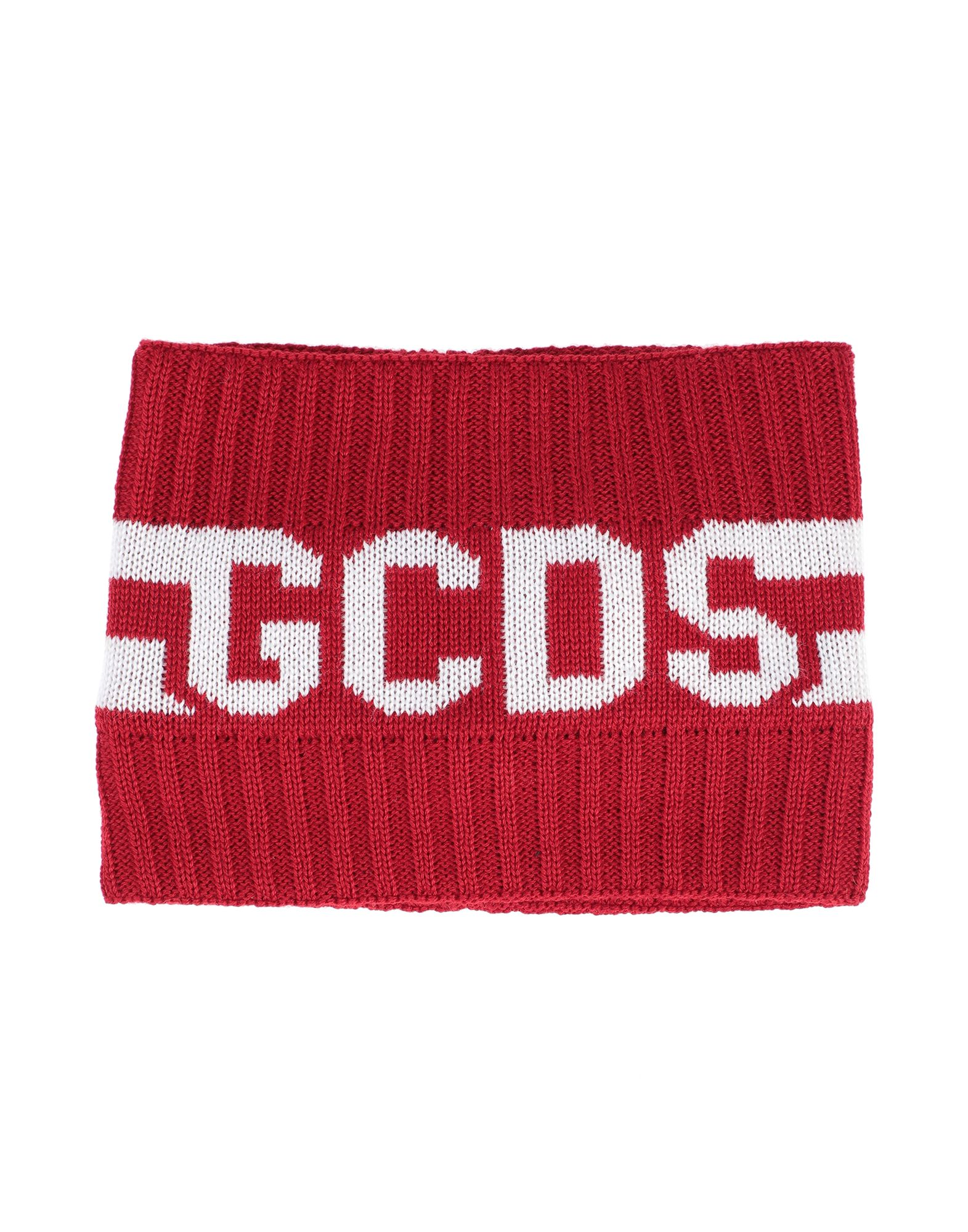 GCDS Hair accessories. knitted, logo, two-tone. 50% Wool, 50% Acrylic