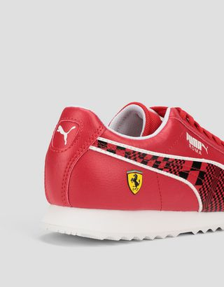 Scuderia Ferrari Online Store - Chaussures pour enfant Puma Scuderia Ferrari Roma - Chaussures de sport