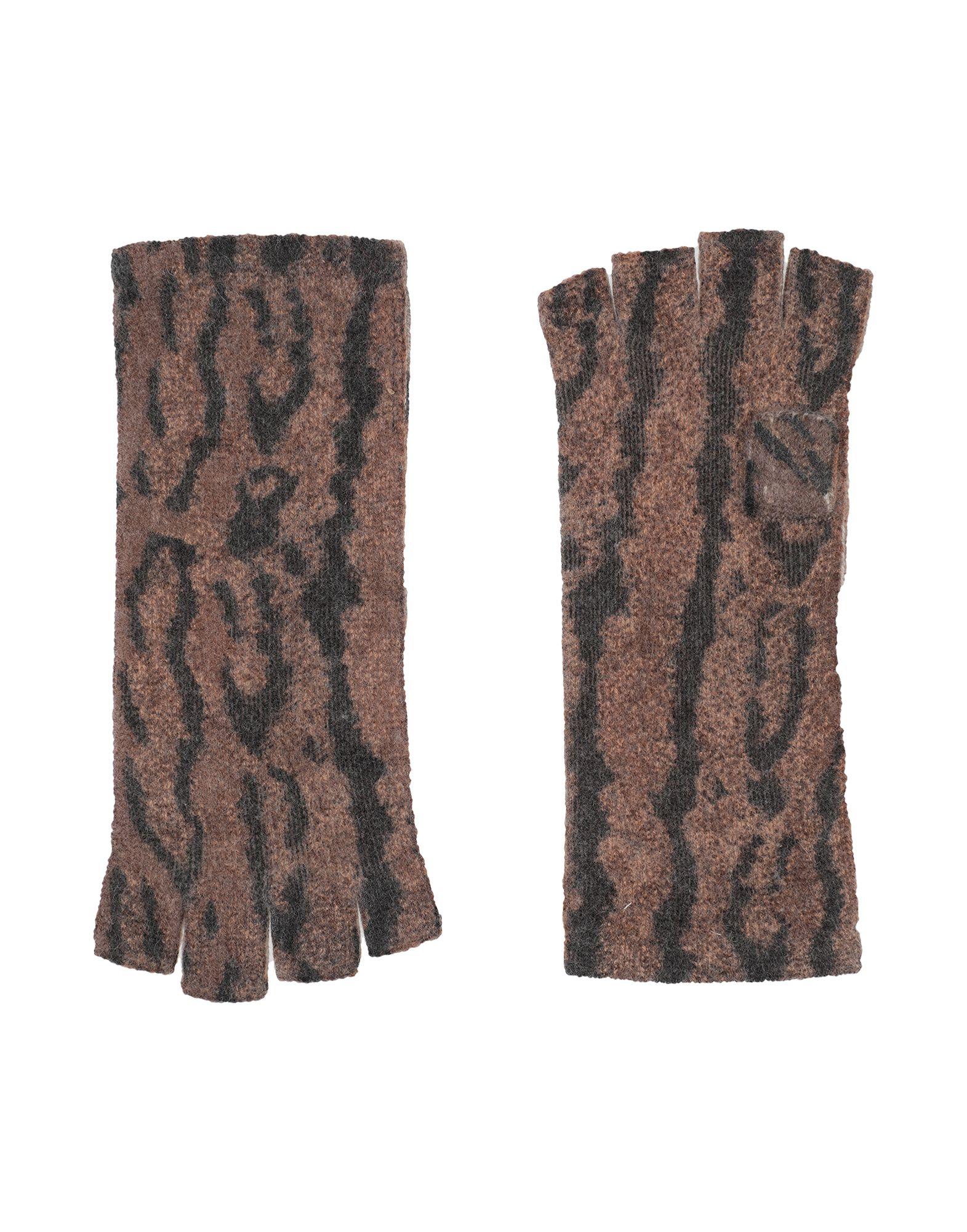 《セール開催中》NOT SHY レディース 手袋 ブラウン one size カシミヤ 100%