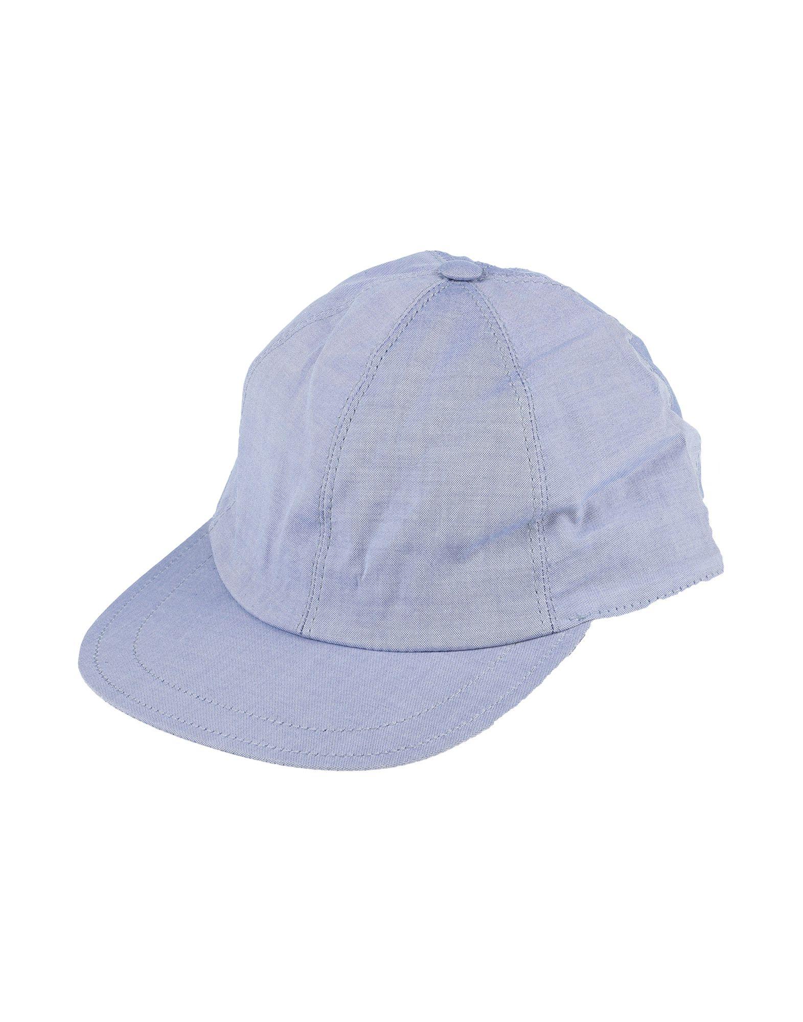 《セール開催中》BROOKSFIELD メンズ 帽子 スカイブルー 58 コットン 100%