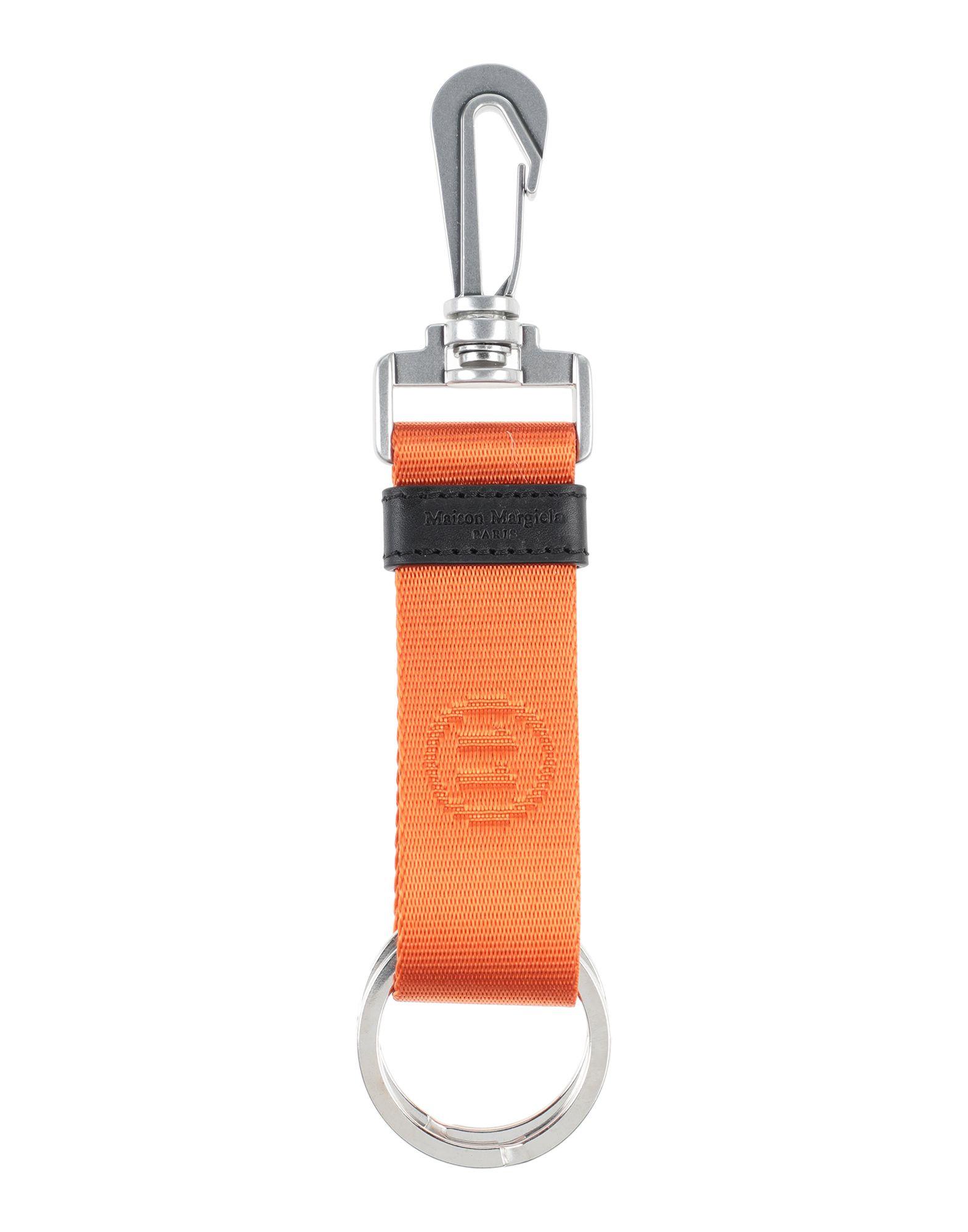 《セール開催中》MAISON MARGIELA メンズ キーホルダー オレンジ ポリエステル 100% / 金属