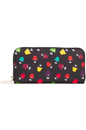 ALICE + OLIVIA Candice Stace Face printed leather continental wallet