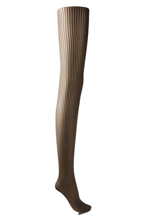 WOLFORD Mystic Amber 20 denier houndstooth stretch-jacquard tights