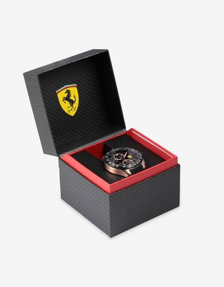 Scuderia Ferrari Online Store - Pista chronograph watch with rose gold case - Chrono Watches