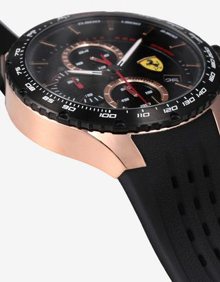 Scuderia Ferrari Online Store - Pista chronograph watch with rose gold tone case - Chrono Watches