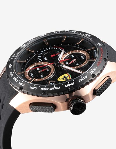 Pista chronograph watch with rose gold tone case