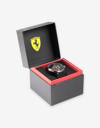 Scuderia Ferrari Online Store - Black Pista multifunction watch - Quartz Watches