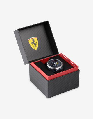 Scuderia Ferrari Online Store - Blue steel Pista multifunction watch - Quartz Watches