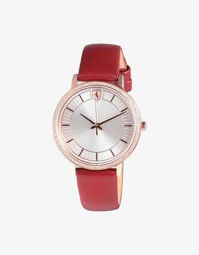 Women's Ultraleggero watch with rose gold colour case and crystals