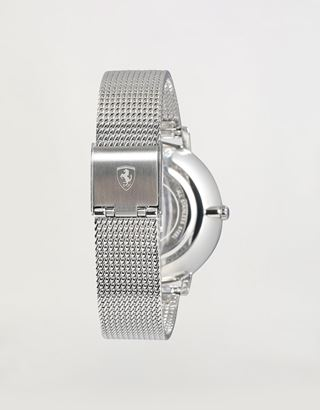 Scuderia Ferrari Online Store - Women's Ultraleggero watch with crystals and steel mesh bracelet - Quartz Watches