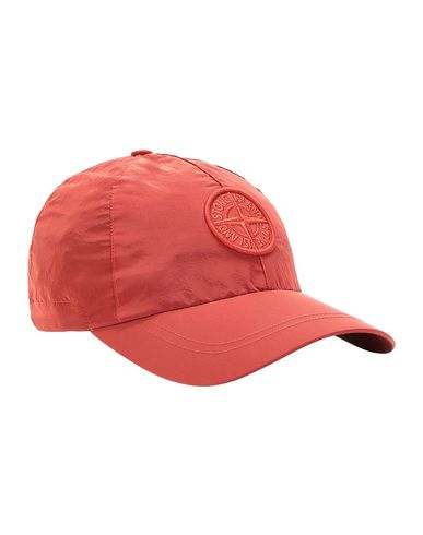 STONE ISLAND 99575 NYLON METAL Cap Man Lobster Red EUR 115