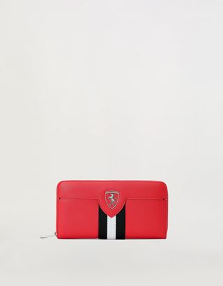 Scuderia Ferrari Online Store - Evo Livery wallet with all-around zip closure - Zip-around Wallets