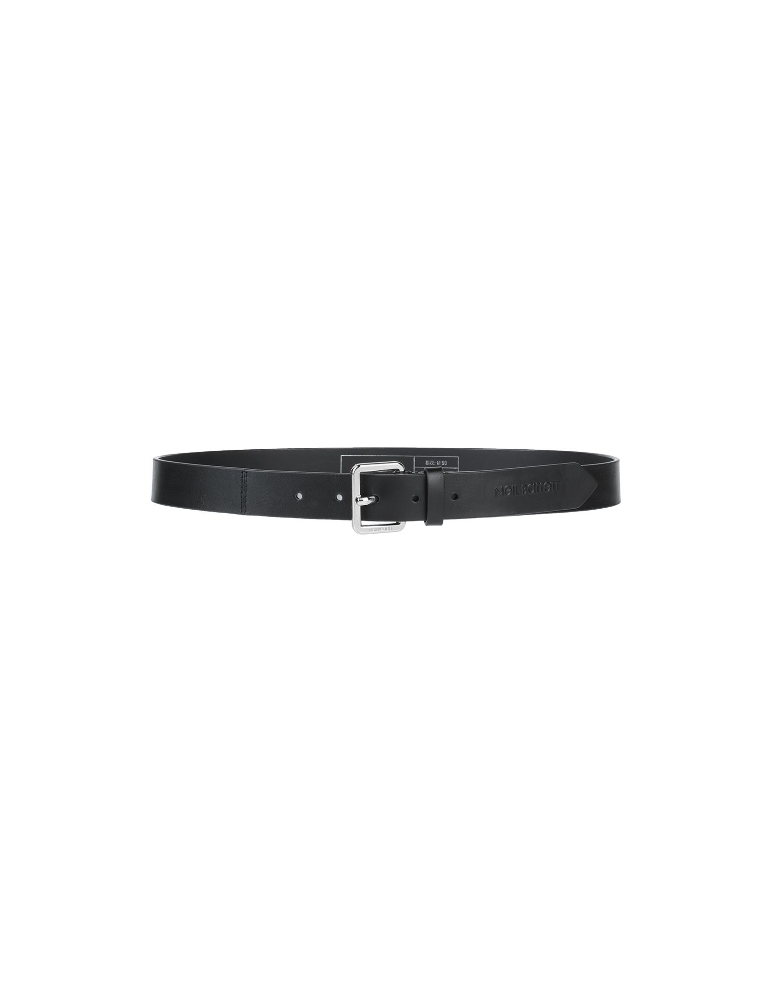 NEIL BARRETT Belts. leather, no appliqués, solid color, buckle fastening, leather lining, standard, contains non-textile parts of animal origin. Soft Leather