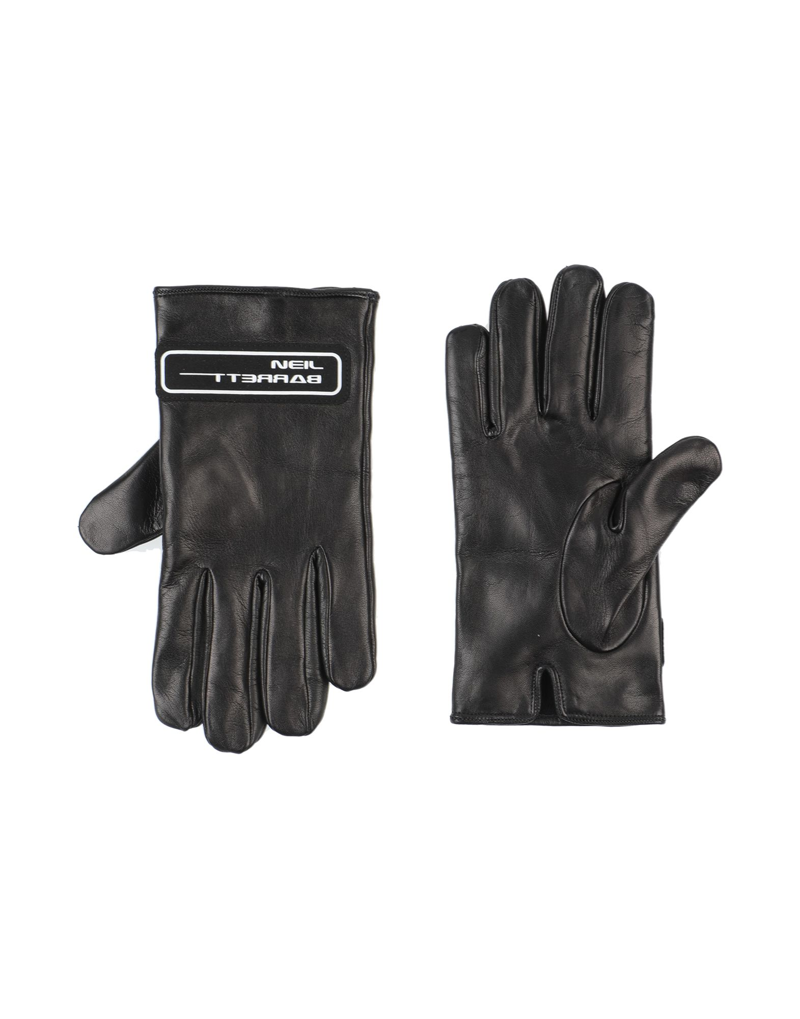 NEIL BARRETT Gloves. leather, logo, solid color, fully lined, contains non-textile parts of animal origin. Soft Leather