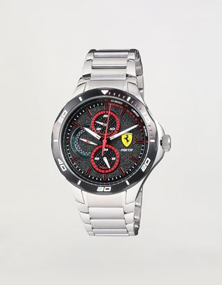 Scuderia Ferrari Online Store - Steel Pista multifunctional watch - Chrono Watches