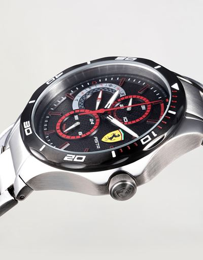 Steel Pista multifunctional watch