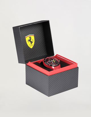 Scuderia Ferrari Online Store - Multifunctional red Pista watch with black dial - Quartz Watches