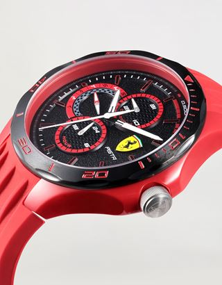 Scuderia Ferrari Online Store - Red Pista multifunction watch with black dial - Quartz Watches