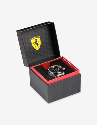 Scuderia Ferrari Online Store - Multifunctional steel Pista watch with two colour strap - Chrono Watches