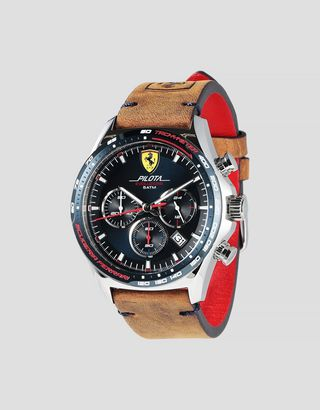Scuderia Ferrari Online Store - Pilota Evo chronograph watch with blue dial - Chrono Watches